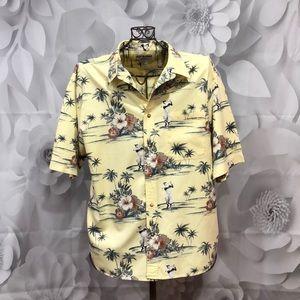 Other - Boca Classics Club Golf Yellow Hawaiian Shirt XL
